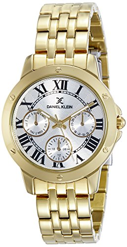 Daniel Klein Analog Gold Dial Women's Watch-DK11073-1 image