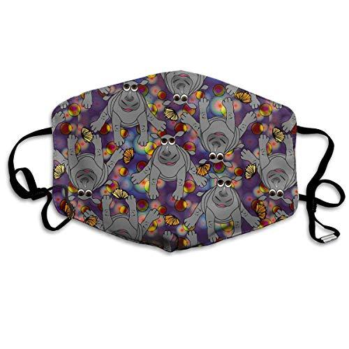 WBinHua Masken, Masken für Erwachsene, Mask Face, Mouth Mask, Breathable Mask Anti Dust, Unisex Baby Rhinos Bubbles Butterflies Printed Cotton Mouth-Masks Face Mask Polyester Anti-dust Masks - Roboter-womens Licht