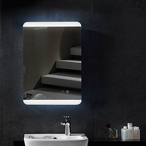 Spiegel mit LED Beleuchtung Spiegelheizung Badspiegel 50x70cm Hängespiegel Bad