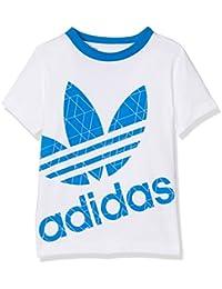 Tee Shirt Logo Blanc Garçon Adidas