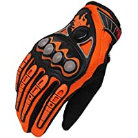 Wenquan,MCS-23 Motociclismo Racing Nylon Telas transpirablesGoves(Color:Naranja,Size:Metro)