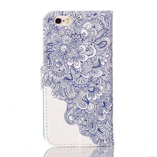 PU Silikon Schutzhülle Handyhülle Painted pc case cover hülle Handy-Fall-Haut Shell Abdeckungen für Smartphone Apple iPhone 6 6S (4.7 Zoll)+Staubstecker (T7) 9