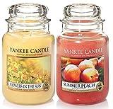 'Yankee Candle–Set di 2barattoli Classic Signature Large–Flowers in