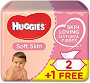 Huggies Soft Skin, 168 Wet Wipes