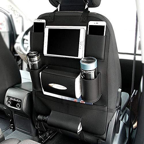 LPQSY Auto-Rücksitz-Organisator, Autositz-Rücksitz-Organisator, Rücksitz-Schutz-Speicher, Halter-Regenschirm-Gewebe-Kasten Großes Spielraum-Zusatz-PU-Leder (Farbe : Black, Size : 1 Pack) (Schwarzer Gewebe-kasten-halter)
