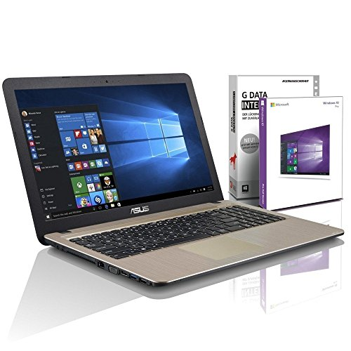 ASUS (15,6 Zoll) Notebook (Intel N3700 Quad Core 4x2.40 GHz, 4GB RAM, 750GB S-ATA HDD, Intel HD Graphic, HDMI, VGA, Webcam, USB 3.0, USB Type-C, WLAN, DVD-Brenner, Windows 10 Professional 64-Bit [geprüfte erneut verpackte Originalware] #5269