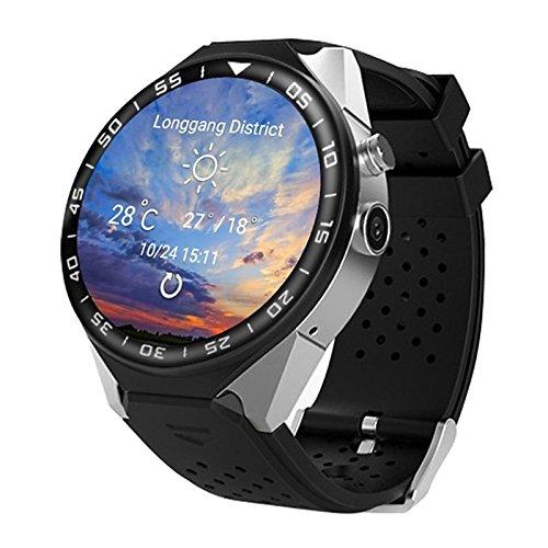 Lemumu JSBP S99C Bluetooth Smart Watch GPS-Navigation Herzfrequenz 3G Karte Kamera HD-Bildschirm Smart Watch Handy für iOS Android, Silber