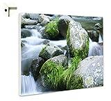 B-wie-Bilder.de Magnettafel Pinnwand Memoboard mit Motiv Natur Alles im Fluss Größe 80 x 60 cm
