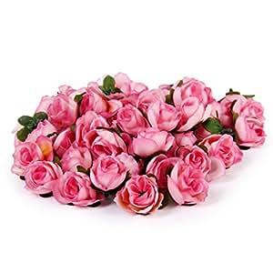 50 stk 3cm k nstliche seide rosen k pfe hochzeit blumendekoration rosa k che. Black Bedroom Furniture Sets. Home Design Ideas