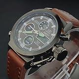 Fenkoo orologio militare (LED/Calendario/orologio da Uomo con cronografo/ acqua resiste ai) Analog-Digital - sveglia da viaggio al quarzo