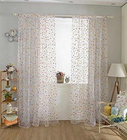 Generic 100cm x 200cm Voile Organza Panel Drapieren Vorhang Wohnzimmer Fenster Dekoration - Kaffee