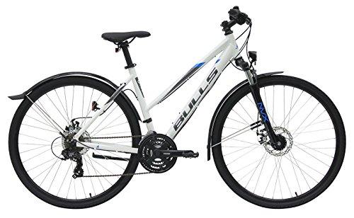 Damen Fahrrad 28 Zoll weiß - Bulls Wildcross Street Trekking Bike - Shimano Schaltung 21 Gänge, Licht