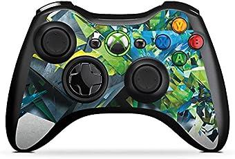 DeinDesign Microsoft Xbox 360 Controller Folie Skin Sticker aus Vinyl-Folie Aufkleber Kristalle Explosion Glas