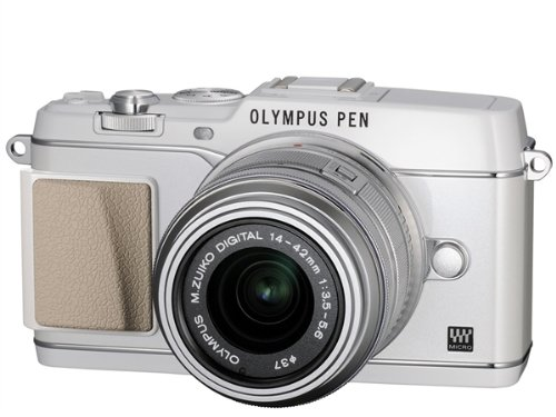 Bargain Olympus PEN E-P5 Micro Four Thirds Interchangeable Lens Camera – White (16.1MP, Live MOS, M.Zuiko 14-42mm II R Lens) 3.0 inch Tiltable Touchscreen LCD