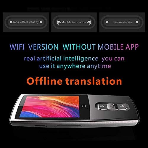 LXYFMS Intelligentes Übersetzungsgerät, tragbare Echtzeit-Sprachübersetzung in 43 Sprachen Übersetzer (Color : White)