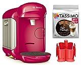 Bosch TASSIMO Vivy 2 Bundle + Spender + TDiscs Heißgetränkemaschine (Pink)