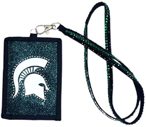 NCAA Michigan State Spartans Beaded Lanyard with Nylon