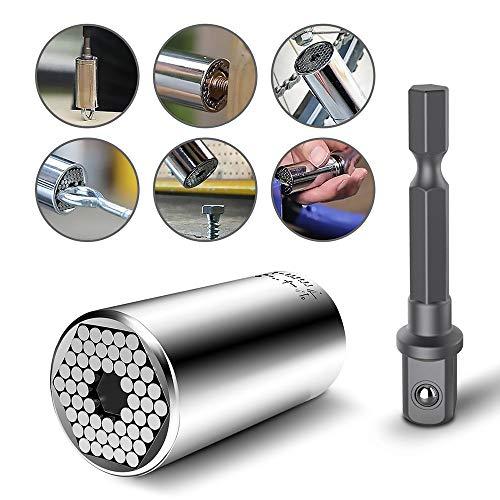 Universal-Steckschlüssel-Adapter, Dreiteiliger Anzug, 0.3-0.7-Zoll-Magie-Schlüsselgriff Mit Automatischem Einstellbohradapter, Geeignet Für 0.3-0.7-Zoll- und Unregelmäßige Form. - 3-stift-wand-adapter