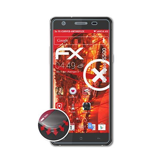 atFolix Schutzfolie passend für Cubot S500 Folie, entspiegelnde & Flexible FX Bildschirmschutzfolie (3X)