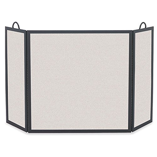 Pilgrim Home and Hearth Pilgrim Solid Bar Fireplace 18221 Rectangular Tri Panel Screen, 52.5 W x 30