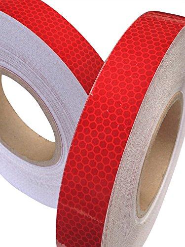 Tuqiang® - nastro adesivo riflettente, rosso intenso , 25 mm x 2,5m, 1 pezzo