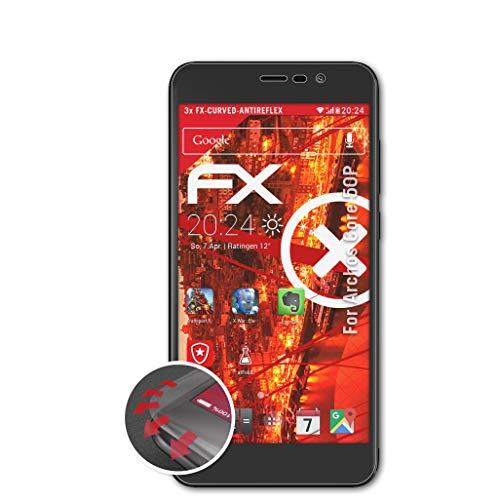 atFolix Schutzfolie passend für Archos Core 50P Folie, entspiegelnde & Flexible FX Bildschirmschutzfolie (3X)
