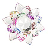 BTSKY 100MM Colorful Rainbow Color Crystal Sparkle Crystal Lotus Flower Ornaments Craft Decoration Home Decoration Feng Shui Decoration