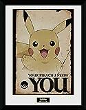 GB Eye Pokémon Pikachu Needs You Gerahmter Fotodruck, Mehrfarbig, 30x 40cm