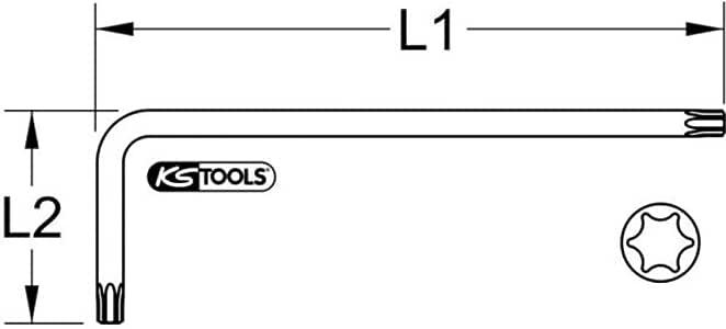 KS Tools Plastic 151.4275/Ball Head Allen Key T27 Yellow XL