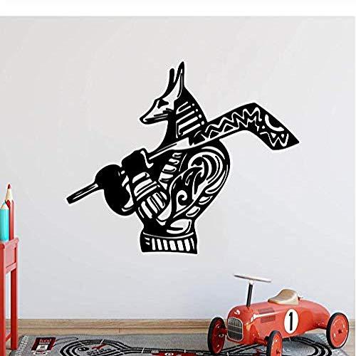Wandaufkleber und Wandbilder Cartoon Eishockey Hund Wandaufkleber Kinderzimmer Schlafzimmer Sport Hockey Tier Wandtattoo Wohnzimmer Vinyl Home Decor 56 * 45com