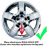 2008, 2009, 2010, 2011, 2012 Chevy Malibu Chrome Factory Replica Wheel Covers / Hubcaps (Set of 4) - 17 by DeluxeAuto