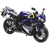 New Ray Toys Street Bike 1:12 Scale Motorcycle - YZF-R1 Blue 2008 43103 by New Ray Toys