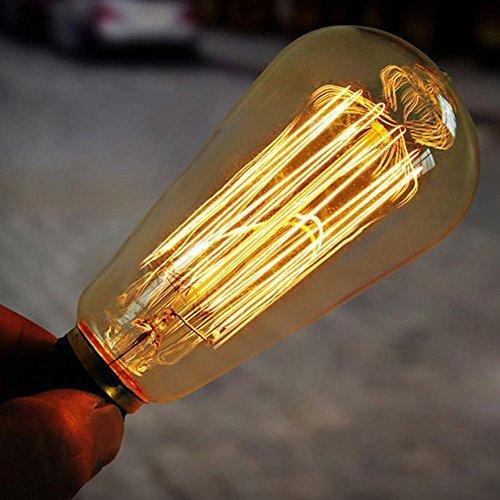 enjoydeal 4 pack light bulb edison vintage dimmable st64 bulbs e27