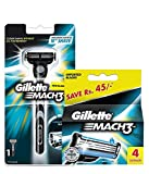 Gillette mach 3 manual shaving razor blades 4s pack and Mach 3 Razor 1 count