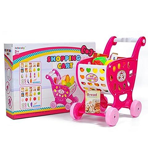 Kinder Einkaufswagen, Teckpeak Rollenspiel Spielzeug Einkaufswagen Spielzeug Kinder-Rollenspiele Shoppingspaß für Kinder über 3 Jahre (Küche Pretend Spielset)