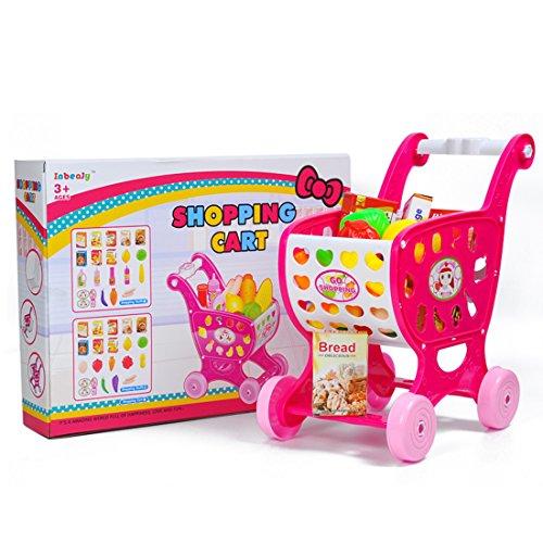 Kinder Einkaufswagen, Teckpeak Rollenspiel Spielzeug Einkaufswagen Spielzeug Kinder-Rollenspiele Shoppingspaß für Kinder über 3 Jahre alt