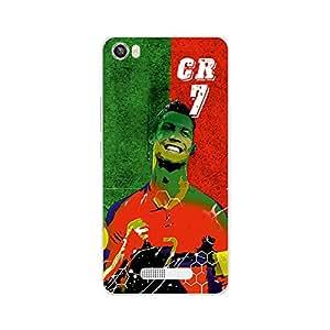 ezyPRNT Back Skin Sticker for Lava Iris X8 Cristiano Ronaldo 'CR' Football Player