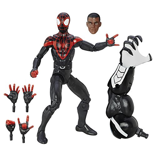 Spider-Man Marvel Spiderman Figure, from the Legends Ultimate Miles Morales Series, 15,24 cm