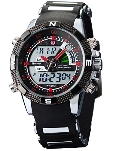 Shark Dual LED Digital Armbanduhr SH043