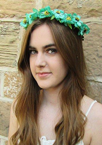 Vert Turquoise WILD ROSE cheveux fleur couronne bandeau Guirlande vintage feuilles Festival S18 * * * * * * * * exclusivement vendu par – Beauté * * * * * * * *