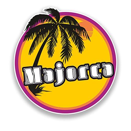 2x Mallorca Sonnenuntergang vinyl Aufkleber Reise Gepäck Beach # 7121 - 10cm/100mm Wide