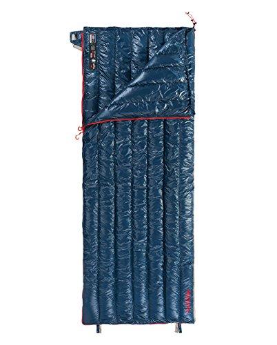 Naturehike Schlafsäcke Ultraleicht 800FP Gänsedaunen Rechteckige Schlafsäcke Outdoor für Camping, Wandern, Reisen (Dunkelblau-Winter)