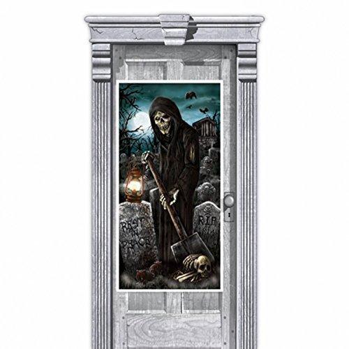 Türposter Totengräber 1.65m x 85cm Halloween Horror-Deko (Halloween Türdekoration)