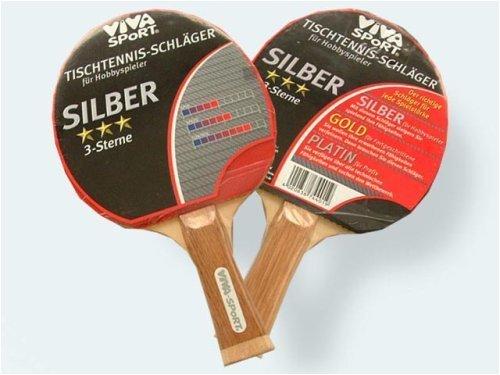 TischTennis-Schläger 3*** Silber Viva Sport I+S 74401 [Spielzeug]