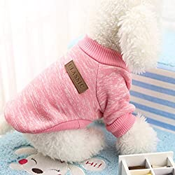 Pet Clothes , Pet Dog Puppy Classic Sweater Fleece Sweater Clothes Warm Sweater Winter