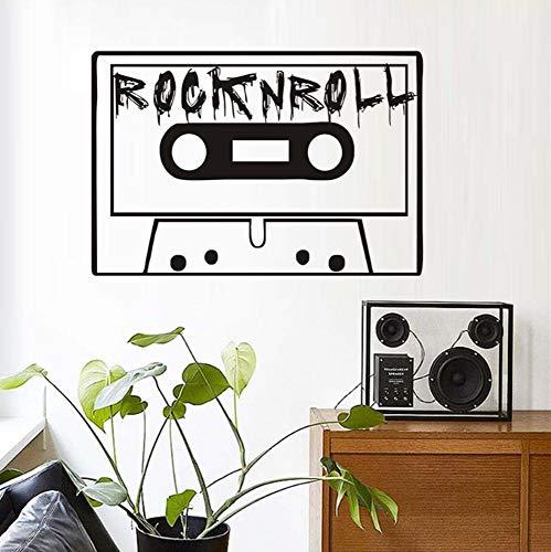 Wandaufkleber Aufkleber Wandbild für Mädchen Jungen Vinyl für Home Art Decor Zitate Magnetische Kassette 59x40cm (Bibel-kassette)