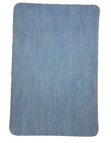 JEANSBLAU HELL Bügelflicken zum Aufbügeln aus Baumwolle 10x15cm I Für Jeans und Mehr I Jeansflicken Ausbesserungsflicken Reparatur-Flicken Reparatursatz