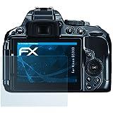 Nikon D5300 Protecteur d'écran - 3 x atFoliX FX-Clear ultra claire Film Protection d'écran