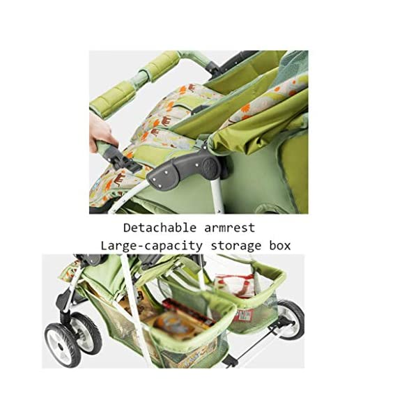 Baby Twin Stroller Buggy Pushchair- Double Stroller,Side by Side Double Pushchair, from Birth  With elliptical frame tubes in contemporary angles. Fully reclinable backrest using one hand easy adjust. Features elegant stay clean wheels with repeat logo details to match name seat graphic. 3