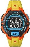 Timex Mens iron man INDIGLO robuste alarme chronographe jaune orange TW5M02300